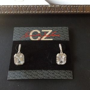 Kenneth Jay Lane Jewelry - Kenneth Jay Lane 10cttw emerald cut CZ earrings