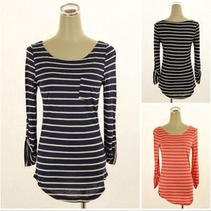 Tops - Navy Striped Top