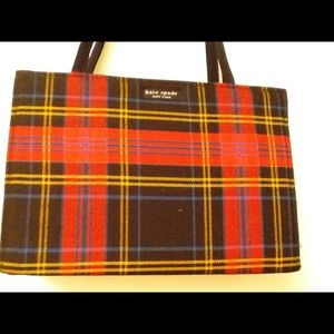 Authentic plaid Kate Spade handbag