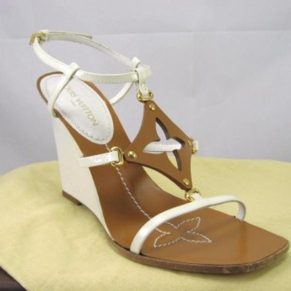 ca510303a0b0 Louis Vuitton Shoes - Louis Vuitton Capricieuse Wedge Sandal