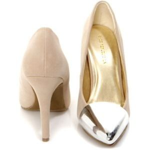 Shoe republic la silver cap toe pumps 9