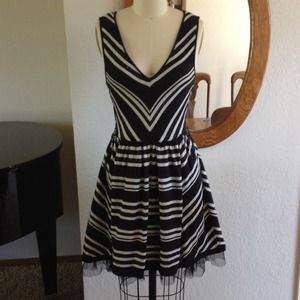American Rag Dresses - American Rag Silver and black dress