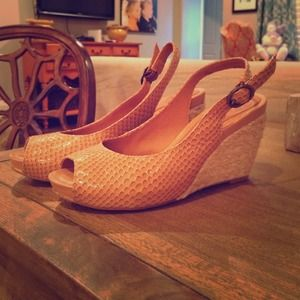 Nurture Snake Print Wedge Sandal