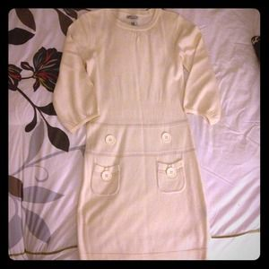 Soft cream sweater dress mini