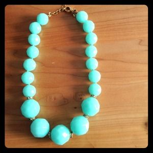 J. Crew Jewelry - Aqua Jcrew Necklace