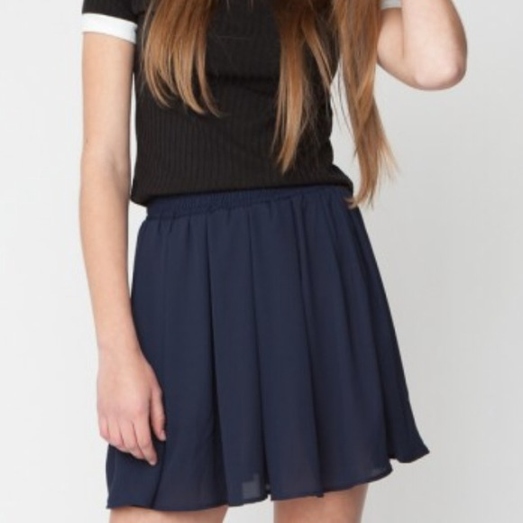 Brandy Melville Skirts - 🎉Host Pick Brandy Chiffon Navy Skater Skirt