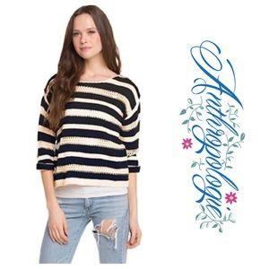 Anthro Striped Sweater