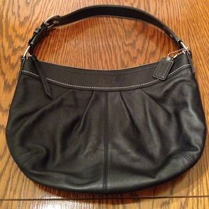 Coach large black hobo