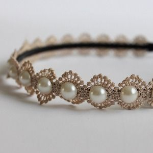 Accessories - Fiona Pearl Burst Headband
