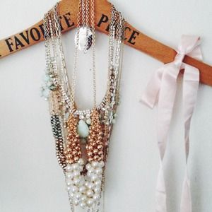 Jackie Pearl and Baubles Cluster Necklace