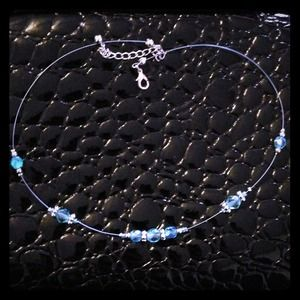 Zara Jewelry - 💖Beautiful light blue gem silver necklace💖