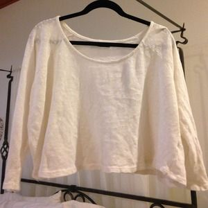 Brandy white flowy top