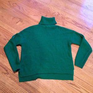 Zara green turtle neck sweater