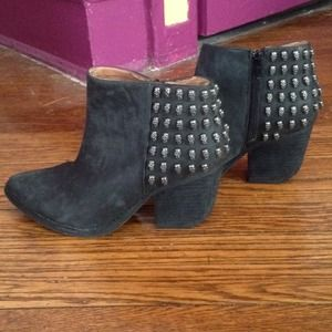 Jeffrey Campbell Leather Skull Booties, Size 7