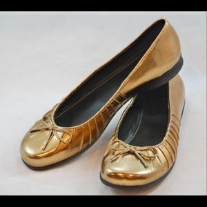 New Chinese Laundry shiny metallic ballet flats 6