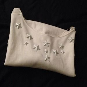 Zara Tops - ZARA White Stars Studded Top