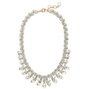 J. Crew Crystal Teardrops Necklace