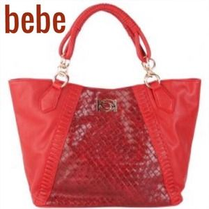 bebe Handbags - 🌼SALE🌼 ✨NWT✨ Woven Chloe Red Tote