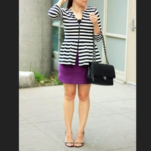 HOST PICK! Stripe peplum jacket