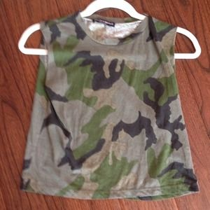 Brandy melville camo muscle tee