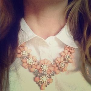 Jewelry - Peach Blossom Bib Necklace