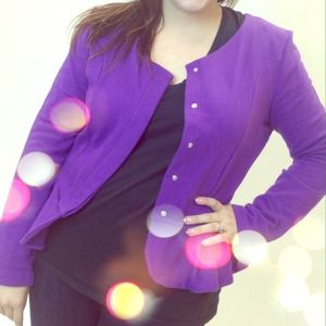 ASOS Jackets & Blazers - SOLD Purple Peplum Jacket