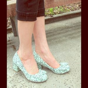 ASOS Shoes - Mint Green Gingerbreadman Printed Pumps