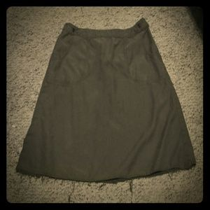 Babakul A-Line Cargo Skirt, Army Green