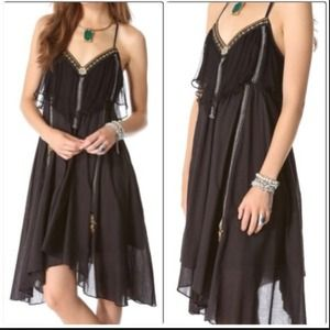 Free People Black Enchanted Rock Black Dress S