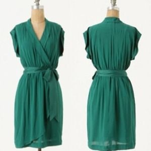 **REDUCED** Emerald Green Anthropologie Dress