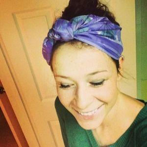 Vintage Silky Headscarf