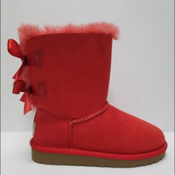 Ugg Bundle 2 Ugg Boots Red And Blue Bow Bailey Sue
