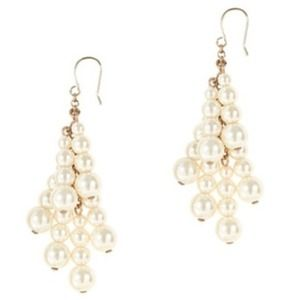 J.crew Pearl Tassel Earrings