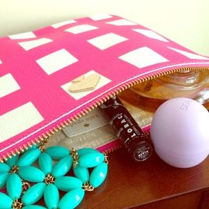 🎉2X HP!🎉 Kate Spade pink checkered Georgie
