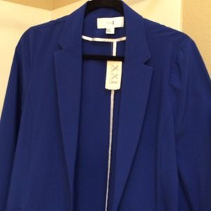 Royal blue oversized blazer