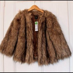 Benetton Jackets & Blazers - *HP* Benetton Faux or Vegan Fur Jacket