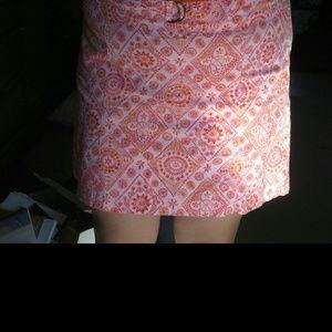 Orange amd pink skort