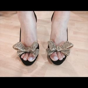 aeb3798a712 Valentino Shoes - Valentino Jeweled Bow d Orsay Platform Pumps