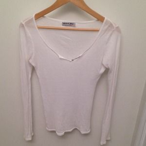 Michael Stars Tops - Michael Stars ribbed long sleeve white shirt!