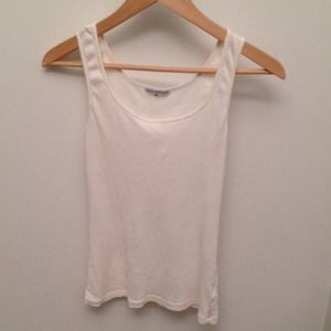 James Perse Tops - James Perse white ribbed tank!