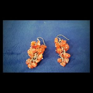 Natural agnate stone earrings