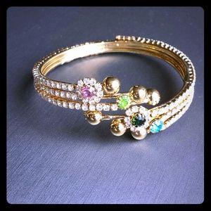 Gorgeous colourful stone bangle bracelet