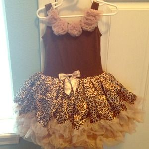 Leopard boutique full tutu