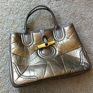 NEW LISTING! Longchamp bronze leather tote