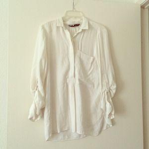 Zara White Blouse Top