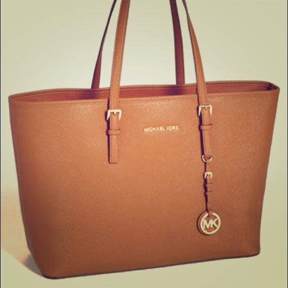 MICHAEL Kors Saffiano Tan Leather Tote. M 53236428ba53405d32002cfe 9355f8322c