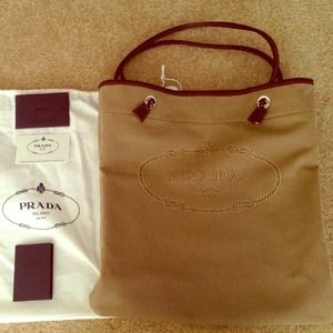 25% off Prada Handbags - NWT Prada shopping logo jacquard tote ...