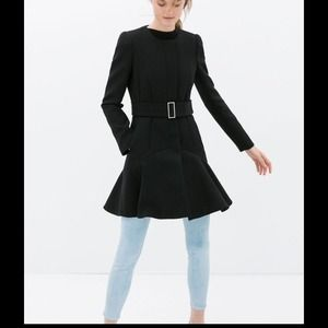 Available Soon!!! Zara Coat with Ruffled Hem MED