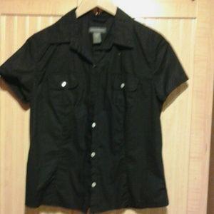 Banana repubic black short sleeve shirt