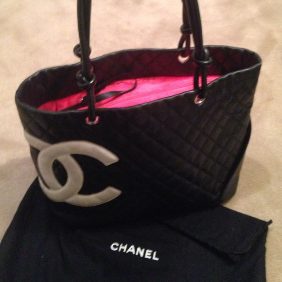 162f02209920 CHANEL Bags | Authentic Cambon Large Tote Black And Pink | Poshmark